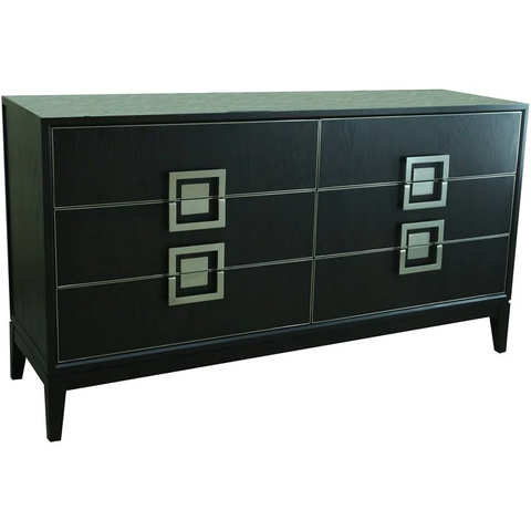 "61"" 6 Drawers Traditional Wood Dresser in Espresso"