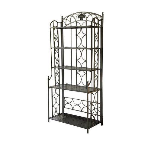 Iron Bakers Rack in Pewter