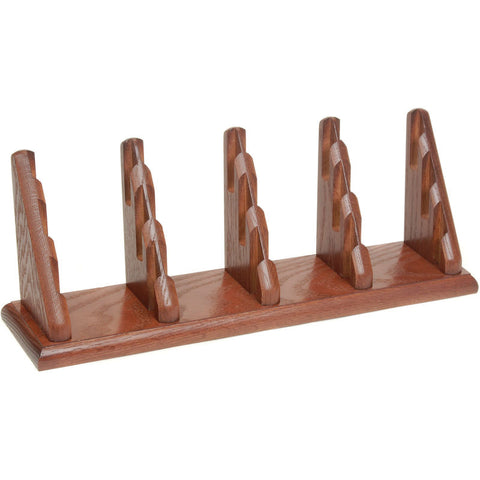 12 Pocket Counter Top Business Card Holder - Mahogany