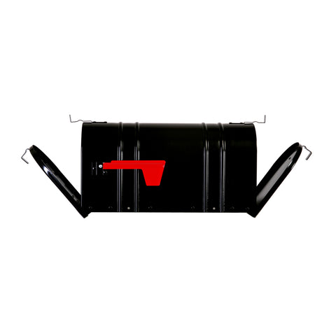 Postal Pro Carlton 8.5-in W x 11.5-in H Metal Black Post Mount Mailbox
