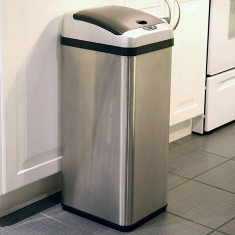 iTouchless IT13RX Trashcan RX Stainless Steel 13 gal. Trash Can Item # HN-ITH005