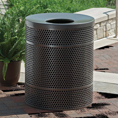 Rally 32 Gallon Trash Receptacle, Contour Top