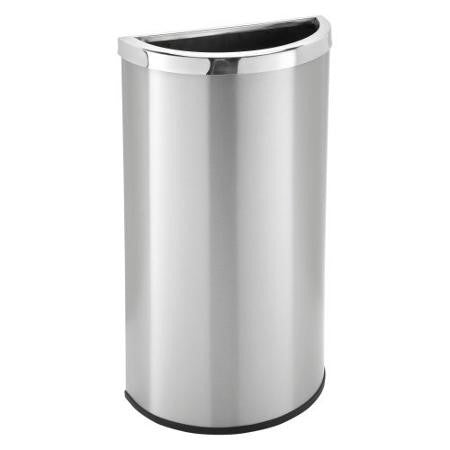 Commercial Zone Precision Series Stainless Steel Half Moon Commercial Trash Can