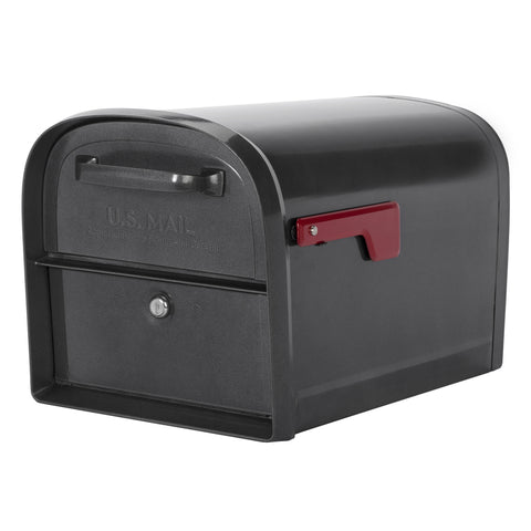 Architectural Mailboxes Oasis Locking Mailbox Metal Pewter  Oasis Locking Mailbox