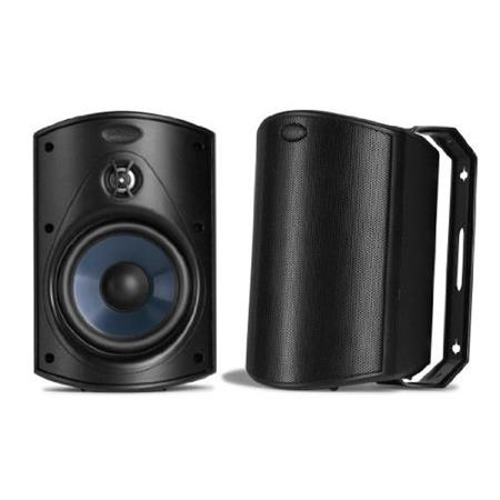 Polk Audio Atrium 6 Outdoor Speaker, 50Hz-27kHz, Pair, Black