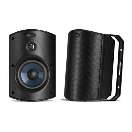 Polk Audio Atrium 5 Outdoor Speaker, 60Hz-25kHz, Pair, Black