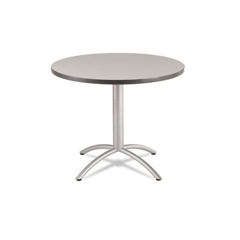 Iceberg CafWorks Table, 36 dia x 30h, Gray/Silver