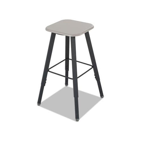 Safco AlphaBetter Adjustable-Height Student Stool, Beige/Black, MDF