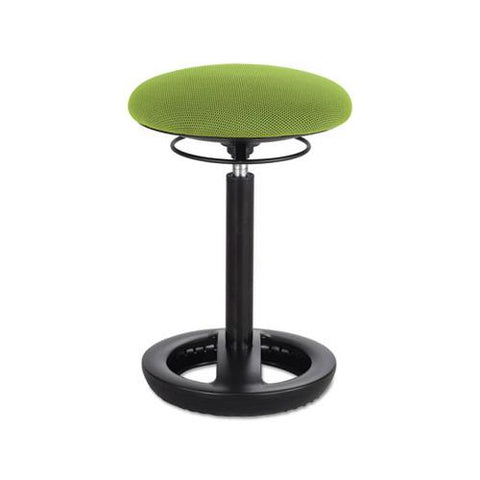 "Safco Twixt Desk Height Ergonomic Stool, 22 1/2"" High, Green Fabric"