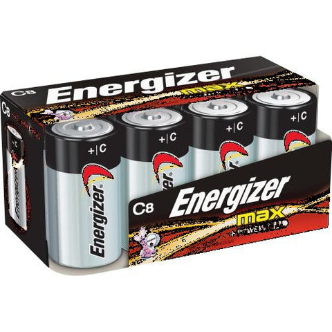 Energizer Max Alkaline C Batteries, For Multipurpose - C - Alkaline - 96 / Carton