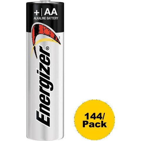 Energizer MAX Alkaline AA Batteries, 1 Pack, For Multipurpose - AA - 1.5 V DC - Alkaline - 144 / Carton