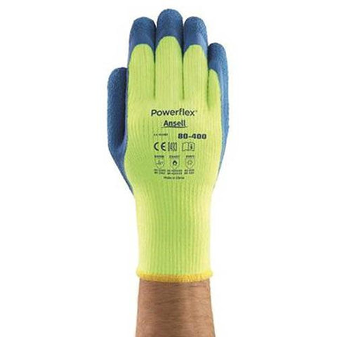 Powerflex® Insulated Latex Coated Gloves, Ansell 80-400-8, 1-Pair - Pkg Qty 6