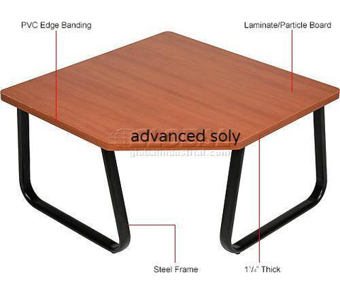 "Copy of Corner Coffee Table 30"" x 30"" Cherry Top"