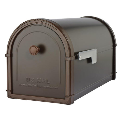 Architectural Mailboxes Bellevue 10-in W x 11.3-in H Metal Oil rubbed Bronze Post Mount Mailbox