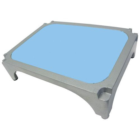 Imperial Surgical® OR-36363-03 Aluminum Stackable Step Stool with Light Blue Mat - Pkg Qty 4