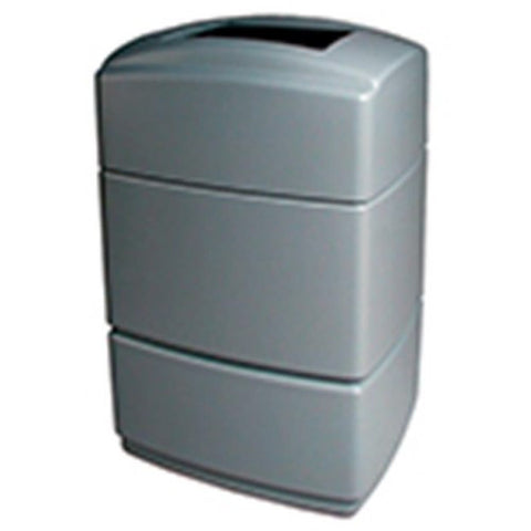 Commercial Zone 770735 Rectangular Trash Can, Silver