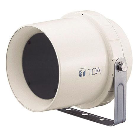 TOA Electronics 6W Wide-Range Paging Weatherproof Speaker, 130Hz - 13kHz Frequency Response, 96dB Sensitivity, 10 kOhms Rated Impedance, Single