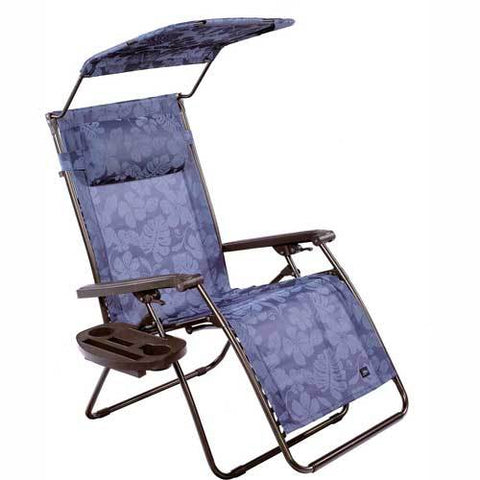 Bliss Deluxe Gravity Free Recliner w/ Covered Bungee, Blue Floral