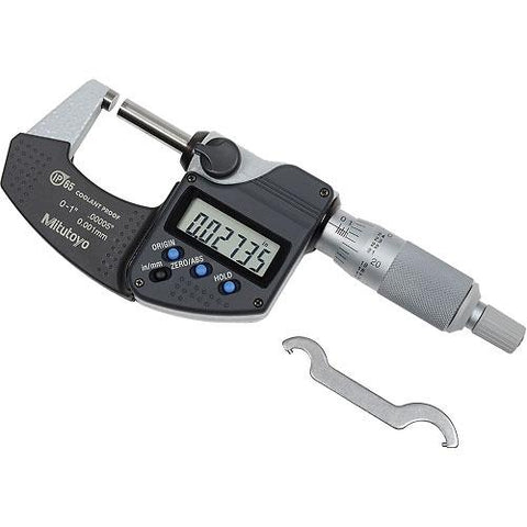 "Mitutoyo 293-340-30 0-1"" IP65 Digimatic Micrometer"