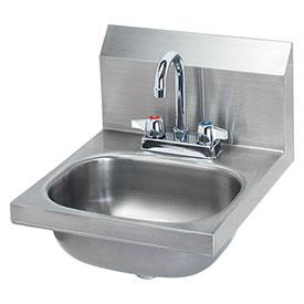 "Krowne HS-18 - 16"" Wide Hand Sink with Deck Mount Faucet"