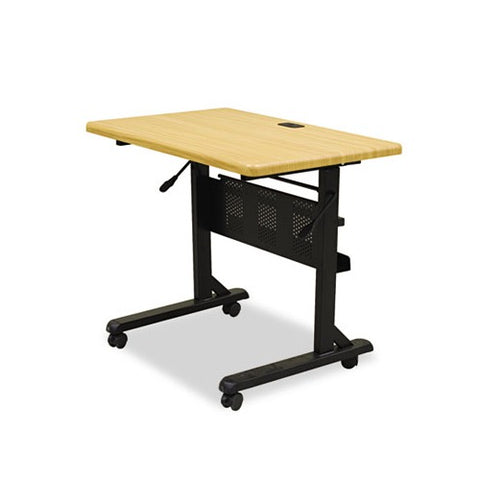 Balt Flipper Training Table, Rectangular, 36w x 24d x 29-1/2h, Teak/Black