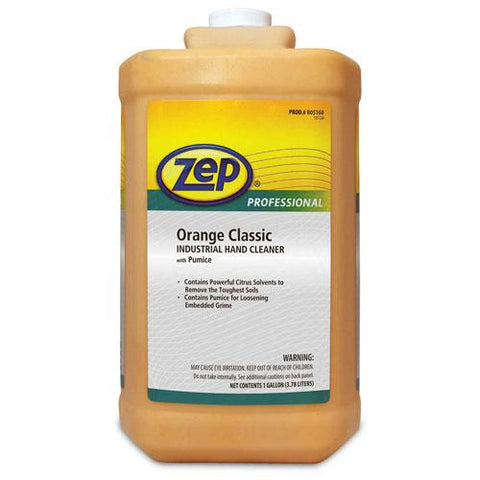 Zep Professional Orange Classic Industrial Hand Cleaner W/ Pumice, 4 Gal. Bottles - 1046475