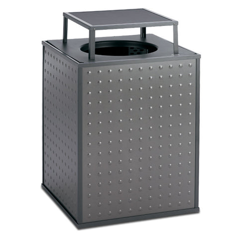 Element 48 Gallon Trash Receptacle, Bonnet Top