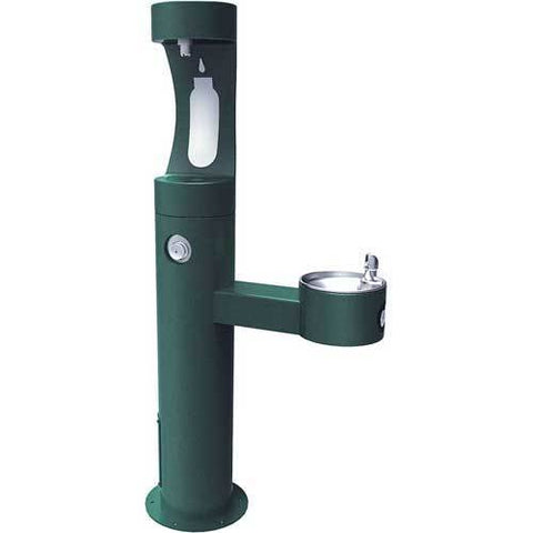 Elkay LK4420BF1U, Bi-Level Outdoor Pedestal Fountain, Upper Water Refilling Station