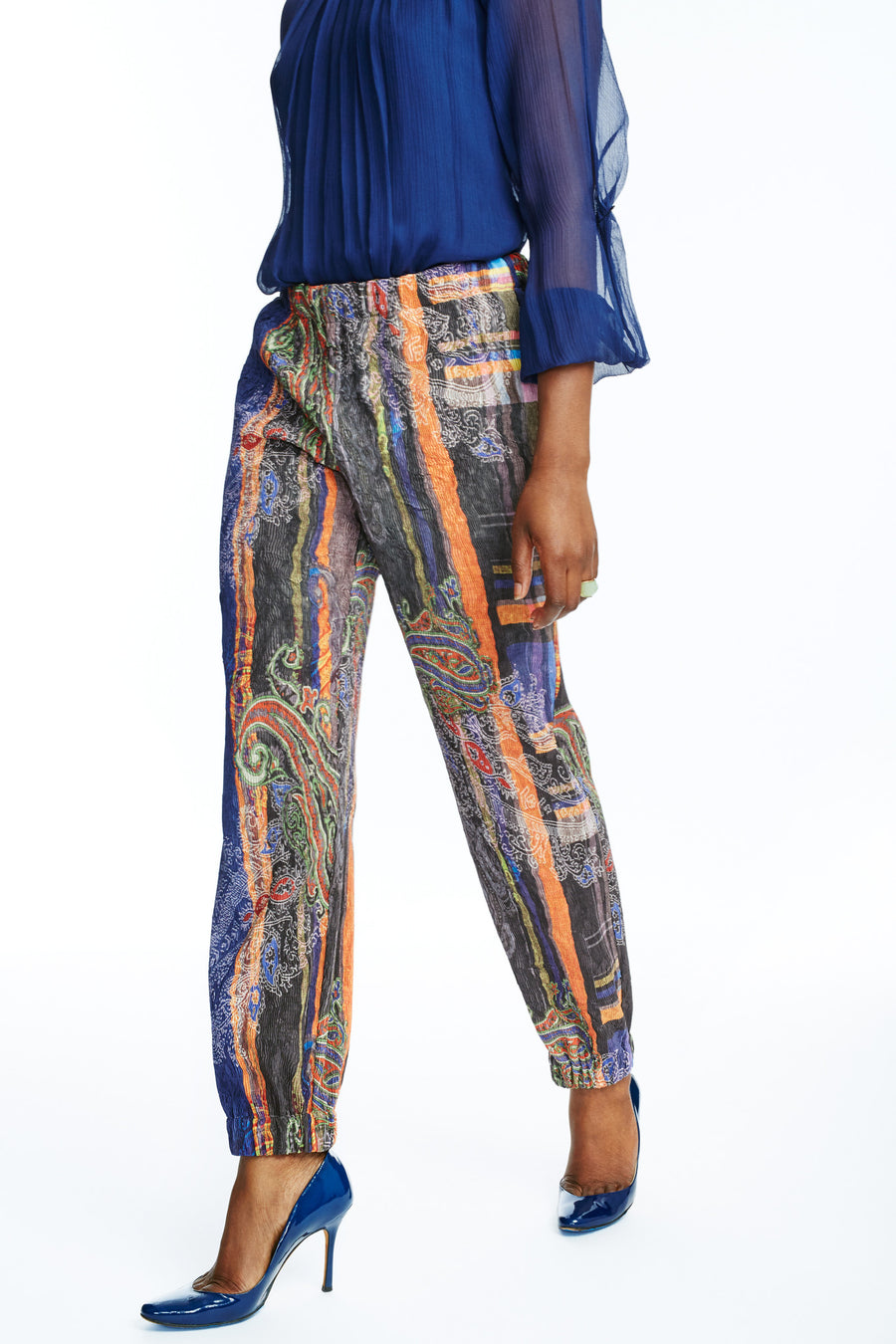 TWIG Boho Pants (Blue Brown)