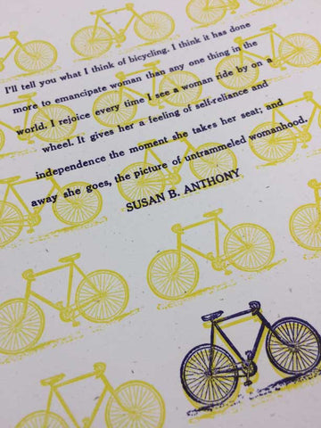 Susan B. Anthony Bicycle Print