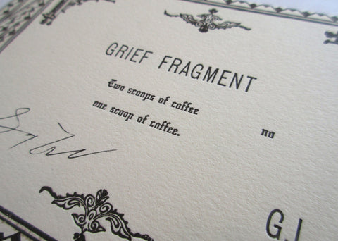 Grief Fragment (Funerary Card)