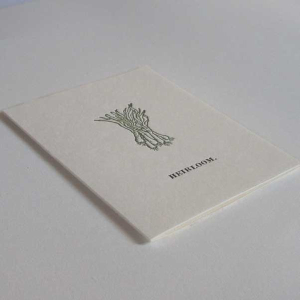 Heirloom Scallions Greeting Card