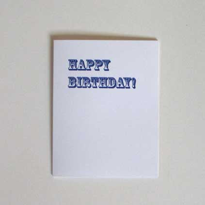 Happy Birthday Greeting Card (Rosewood Blue)