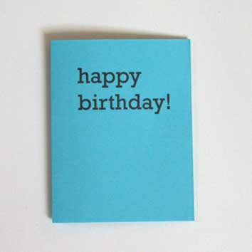 happy birthday! Greeting Card (block serif)