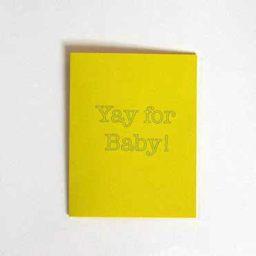 Yay For Baby! Congratulations Greeting Card