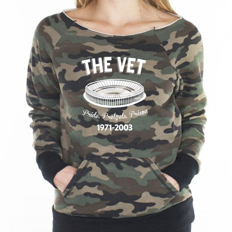 Womens The Vintage Camo Pullover Raglan