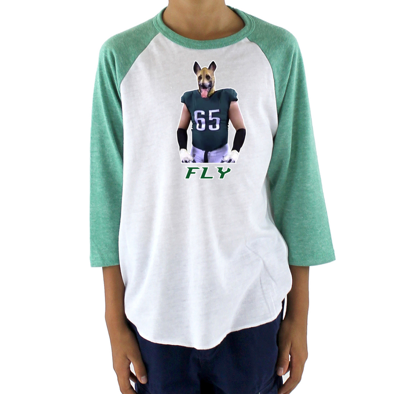 Underdogs Youth Triblend Raglan Baseball Shirt