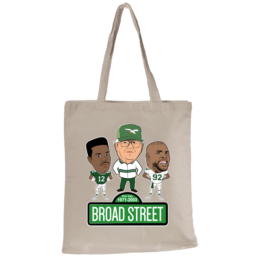 Broad Street Football Canvas Tote Bag