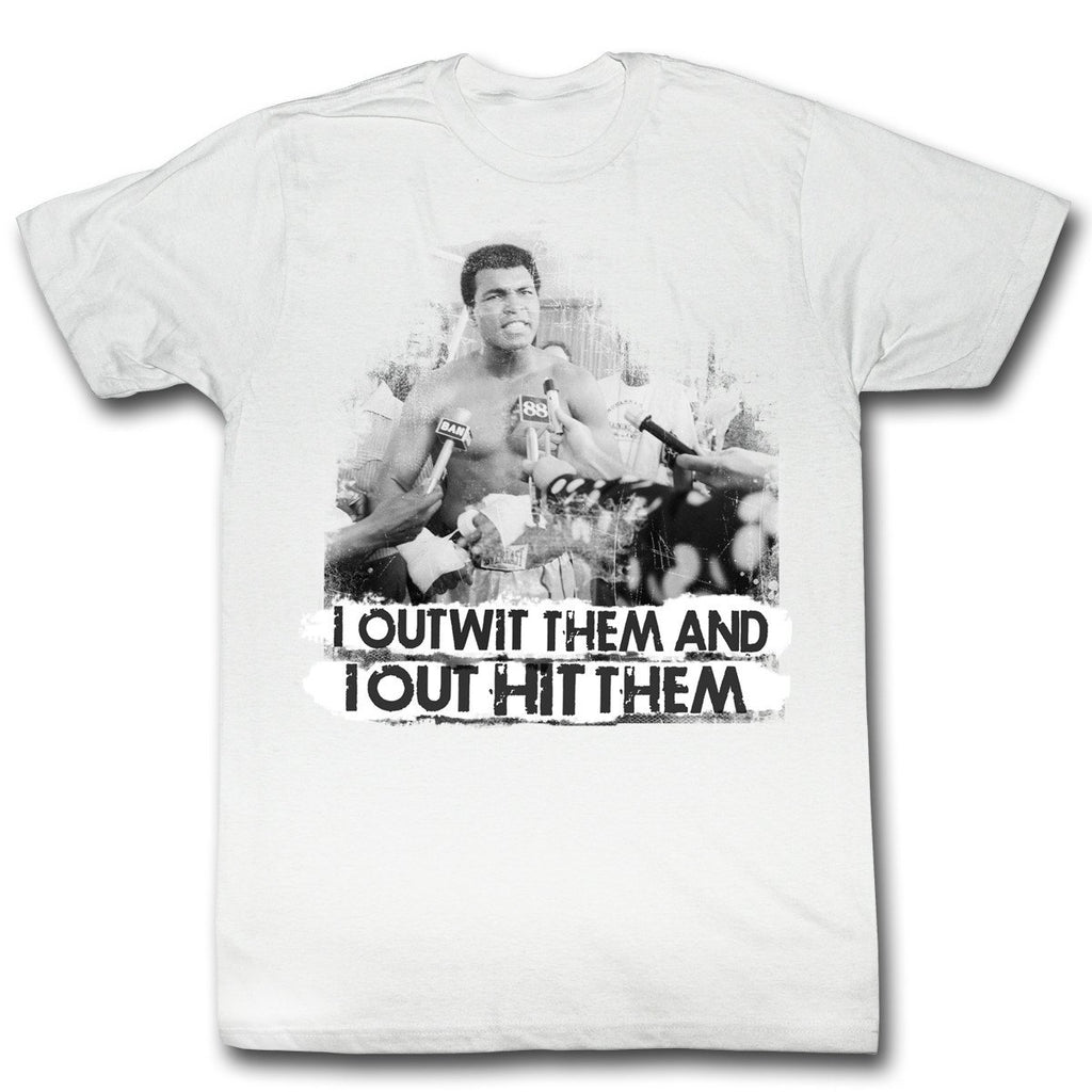 Muhammad Ali Retro Out Hit Them T-Shirt - PhillyFandom shirts - Shirts PhillyFandom Philly Sports Tees