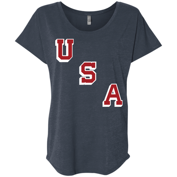 1960 USA Forgotten Miracle Ladies' Triblend Dolman Sleeve - PhillyFandom T-Shirts - Shirts PhillyFandom Philly Sports Tees
