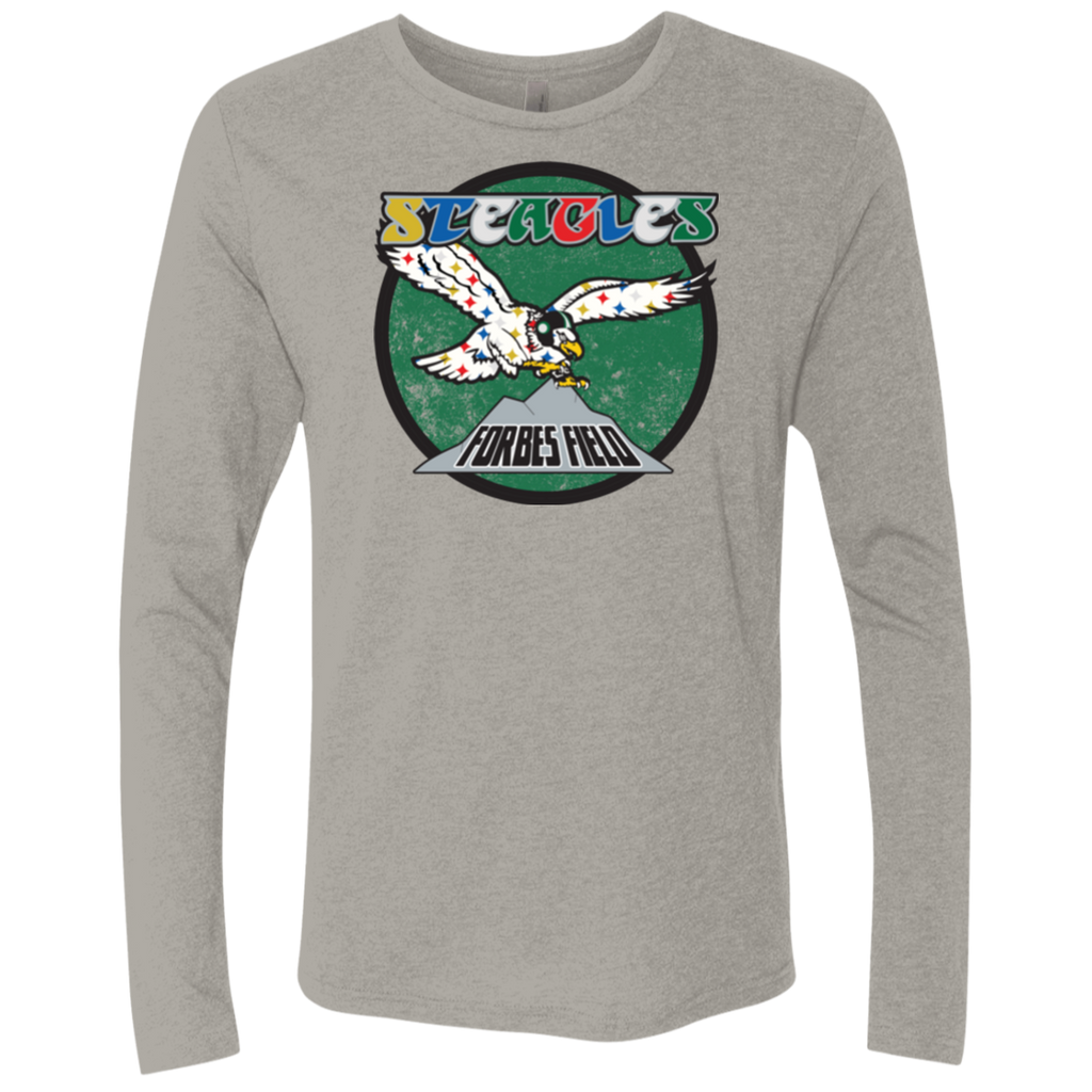Steagles Men's Triblend Long Sleeve Crew