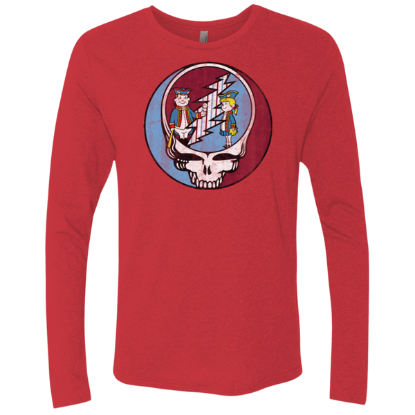 Stealadelphia Baseball Men's Triblend Long Sleeve Crew - PhillyFandom T-Shirts - Shirts PhillyFandom Philly Sports Tees