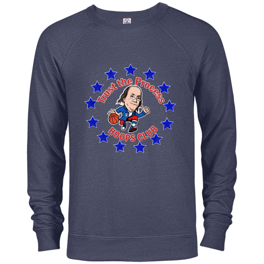 Trust the Process Circle French Terry Crew Sweatshirt