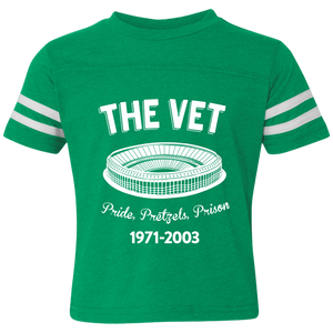 Retro The Vet Toddler Football Fine Jersey T-Shirt - PhillyFandom T-Shirts - Shirts PhillyFandom Philly Sports Tees