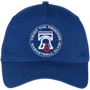 Trust the Process Hoops Club Five Panel Twill Cap - PhillyFandom Hats - Shirts PhillyFandom Philly Sports Tees