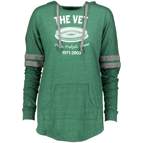 Retro The Vet Ladies Hooded Low Key Pullover - PhillyFandom Sweatshirts - Shirts PhillyFandom Philly Sports Tees