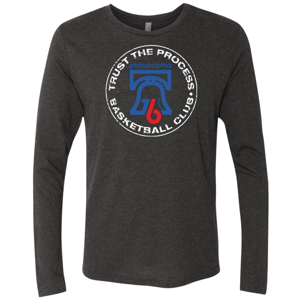 Trust the Process Hoops Club Men's Triblend Long Sleeve Crew