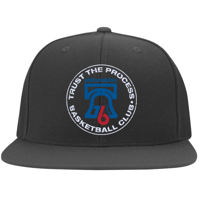 Trust the Process Flat Bill Twill Flexfit Cap - PhillyFandom Hats - Shirts PhillyFandom Philly Sports Tees