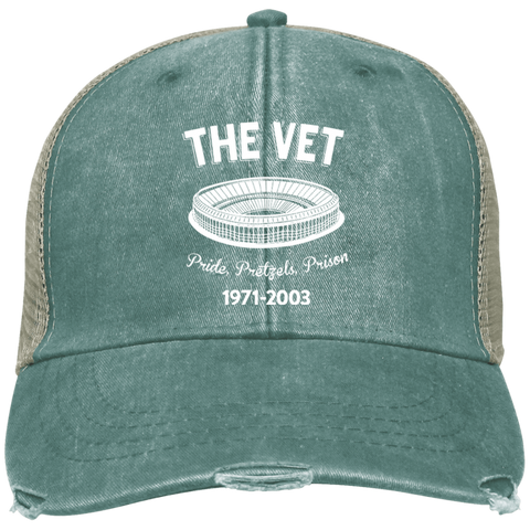 Embroidered The Vet Distressed Trucker Hat - PhillyFandom Hats - Shirts PhillyFandom Philly Sports Tees