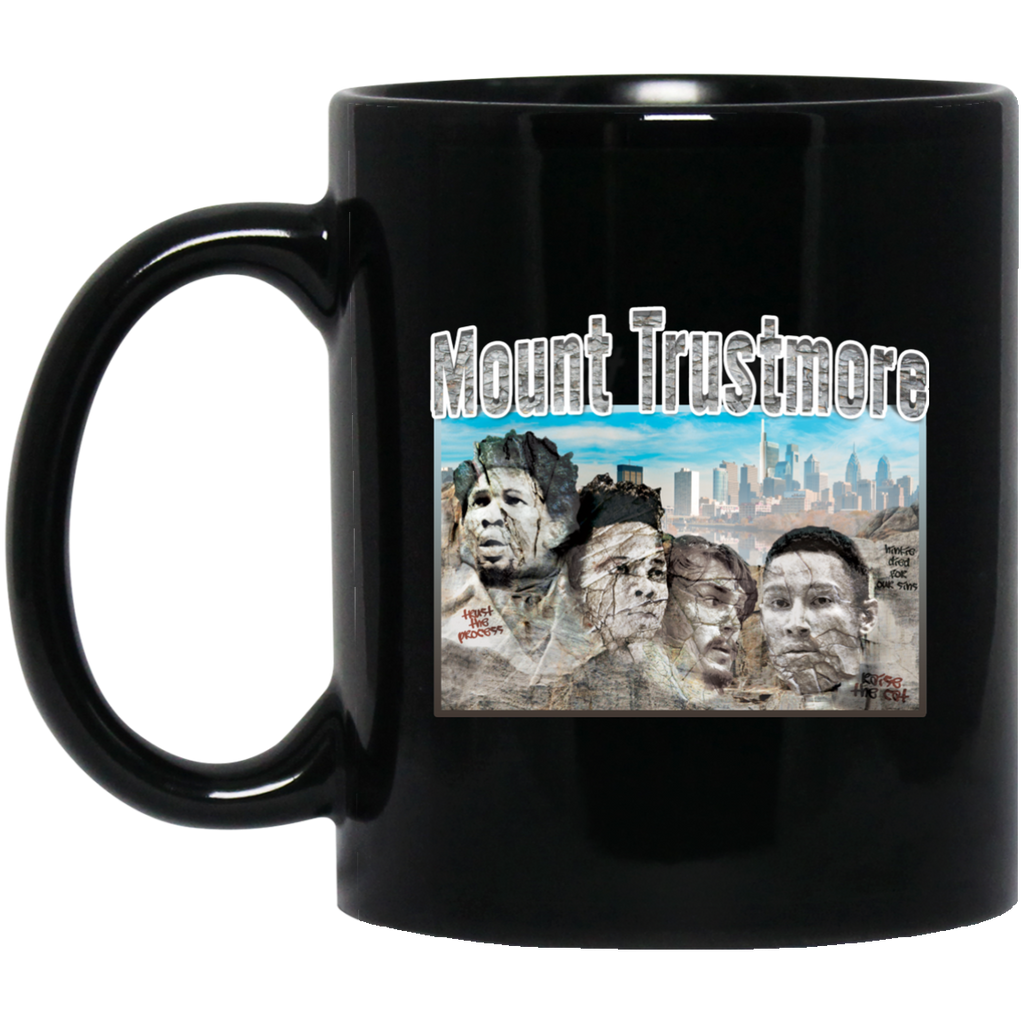 Mount Trustmore Black Ceramic Coffee Mug